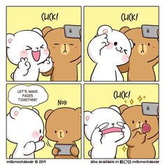 Kikis Cantú's Milk and Mocha Gif Picts images from the web Love Cartoon Couple, Cute Love Cartoons, Cute Couple Comics, Cute Comics, Cute Bear Drawings, Cute Kawaii Drawings, Cute Love Pictures, Cute Love Gif, Cute Kawaii Animals