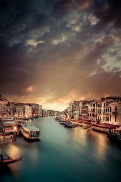 Rialto lights - Venice, Italy