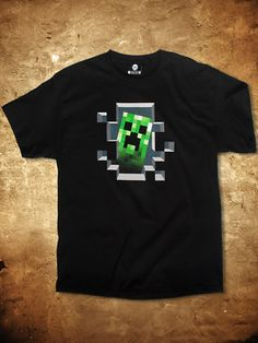 $21.99 Minecraft Creeper Inside T Shirt New Gamer | eBay