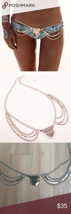 NOW AVAILABLE  Boho Silver Waist Hip Chain Brand new! No brand but it's listed under LF for visibility and style because these types of body chains are usually modeled with LF clothes! Really beautiful and high quality, modeled in the first picture LF Jewelry