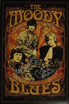 ☮ American Hippie Classic Rock Music Poster ~ Moody Blues