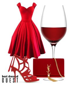 """""""Best Dressed Guest: Winery"""" by mild-red-1 ❤ liked on Polyvore featuring LSA International, Yves Saint Laurent, Paul Andrew, napa, winerywedding, bestdressedguest and vineyardwedding"""