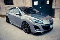 Mazda 3 2010 sedan - I like the splitter and side rail trim on the bottom of the car mixed with the mud flaps and rain guards Mazda Cx3 Tuning, Mazda 3 Speed, Mazda 3 2008, Mazda Cx5, Mazda Mazda3, Mazda 3 Hatchback, Rx7, Acura Nsx, Honda S2000