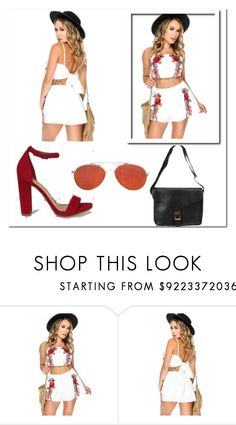 """""""Pretty Powerful"""" by amiclubwear ❤ liked on Polyvore featuring sunglasses, ChunkyHeels, romper and amiclubwear"""