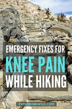 Don't let knee pain ruin your hike! Here are three simple ways to reset your biomechanics when the pain starts and maybe even banish it for good if you're persistent. Backpacking Tips, Hiking Tips, Hiking Gear, Hiking Backpack, Travel Backpack, Travel Bags, Hiking Food, Camping And Hiking, Camping Gear