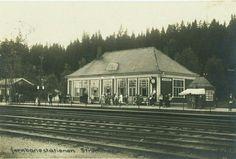 Skedsmo kommune Strømmen - Jernbanestationen Strømmen. Brukt i 1932.