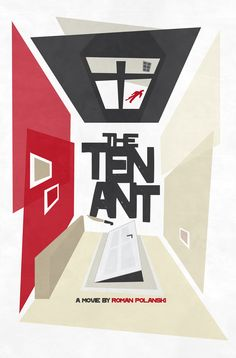 The Tenant — minimal Movie Poster by Neven Udovicic. I quite liked this weird, uncanny Polanski film, featuring himself as the paranoid main character. Minimal Movie Posters, Cinema Posters, Superhero Poster, The Tenant, Roman Polanski, Cult, Movies Worth Watching, Alternative Movie Posters, Screen Design
