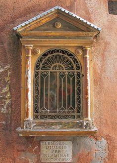 Italian Fine Art Photograph No. 9339. 8x10 Print Venice Italy Burano Tiny Devotional Altar Stucco Crumbling Religious Catholic Holy