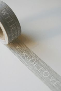 With Love Grey Paper Tape 10m