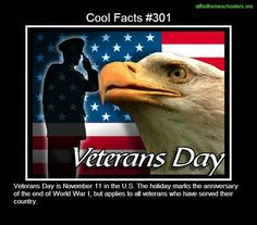 Cool facts #301  http://en.wikipedia.org/wiki/Veterans_Day