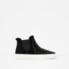 MICRO - STUDDED LEATHER BOOTIES - View all - Shoes - WOMAN | ZARA United States