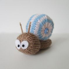 Shellby the Snail FREE Knitting Pattern