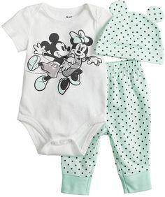 Disney/Jumping Beans Disney's Minnie & Mickey Mouse Baby Girl Bodysuit https://presentbaby.com