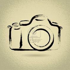 DSLR Camera Illustration with Brushwork Stock Photo - 16905845