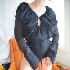 Black Vivienne Westwood Silk Draped Wrap Top
