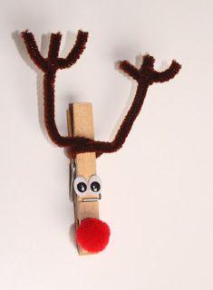 Wäscheklammer Rentier ... clothspin reindeer