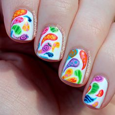 PackAPunchPolish: Patterned Paisley Nail Art