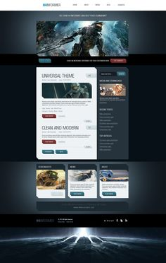 H4-Informer – A Fully Layered Free PSD Template