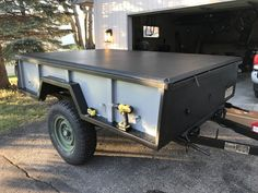 Over the summer (and likely next summer) I am going to be working on turning the surplus trailer I purchased into an Overlanding/camping/utility. Off Road Trailer, Trailer Build, Overland Trailer, Tiny Camper, Utility Trailer, Land Rover Defender, Land Cruiser, Atv, Offroad
