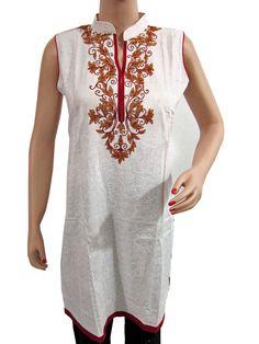 embroidered tunic,indian tunic,cotton kurta,women's tunic,latest kurti designs $24.99