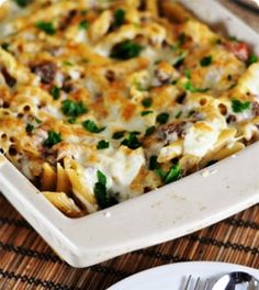Delicious Greek Pastitsio. This a simpler version of this dish that sounds really good..