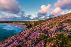 Stunning photo by Mick Hay of Holywell Bay on Cornwall's North coast. www.dreamsofcornwall.co.uk