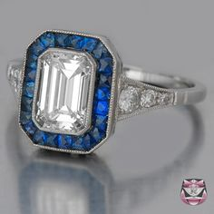 Art Deco Engagement Ring - EGL Certified