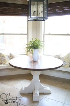 Build A Custom Round Table For Only 75 In Lumber With Free Printable Plans And Easy