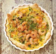 Blätterteig-Quiche mit Shrimps &Dill