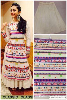 Bollywood Replica - Rakul Preet In Designer Silk Lehenga Suit - Bonanza Pakistani Dresses, Indian Dresses, Indian Outfits, Walima Dress, Western Dresses, Kurta Designs, Blouse Designs, Choli Designs, Dress Designs