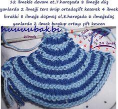 mormenekşeler: dikdörtgen şal-etol örgü Crochet Top, Crochet Hats, Knitted Baby Blankets, Crochet Stitches, Baby Knitting, Knitting Patterns, Projects To Try, Women, Knitting