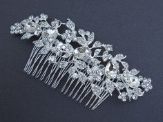 Large Rhinestone Bridal Comb,crystal wedding comb,bridal hair comb rhinestone,wedding hair comb,bridal accessories,wedding headpieces on Etsy, $45.00