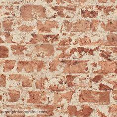 Papel Pintado New Walls NWS_1844_62_89, papel de imitación piedra en un tono rojizo.