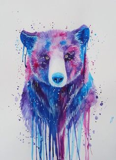 Bear by Jonna Lamminaho Watercolor