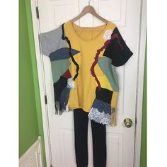 Eclectic Long Shirt Oversize Patchwork Tunic by UrsaMajorDesigns
