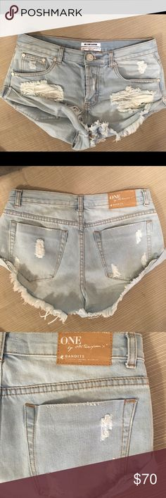 """One Teaspoon The Beauty Bandits shorts One teaspoon """"the beauty bandits"""" shorts. Worn twice. Super cute and perfect for summer in excellent condition. Purchased from shopbop. I normally wear a 25 but took a 26 in these. One Teaspoon Shorts Jean Shorts"""