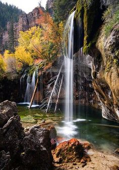 Falls At Hanging Lake Print, Rocky Mountains, Colorado.