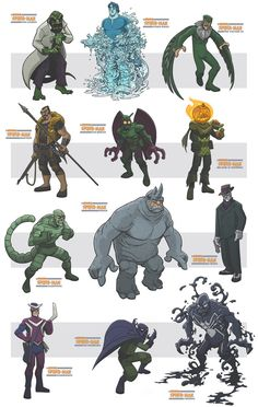 awesome spiderman villains III by jimmymcwicked on DeviantArt