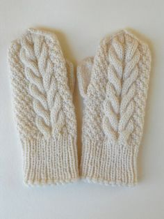 Ivory wool handknitted mittens, bridesmaid favor for winter wedding, cabled off white mittens, gift for her - deftfor. Hand Knitting, Knitting Patterns, Gifts For Women, Gifts For Her, Bridesmaid Favors, Linen Shop, Knit Mittens, Hand Warmers, Off White