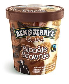 Did you know Ben & Jerry's is fair trade certified? Next time you reach for a carton of ice cream on a bad day make sure it's them and support Ben & Jerry's Core Blondie Brownie Ice Cream Menu, Yummy Ice Cream, Best Ice Cream, Ice Cream Desserts, Ben Et Jerrys, Ben Und Jerry, Ice Cream Flavors List, Candy Recipes, Dessert Recipes