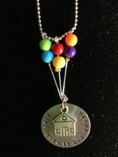 "Disney/ Pixar's ""UP"" Inspired Hand Stamped Charm Necklace"