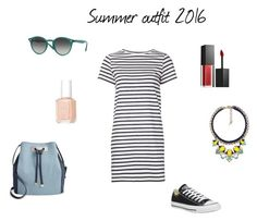 Summer outfit 2016 by netstylistka on Polyvore featuring moda, M.i.h Jeans, Converse, INC International Concepts, Ray-Ban, Chloe + Isabel, Smashbox and Essie