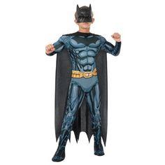 Batman Deluxe verkleedkostuum - maat 116/128  Verkleed je nu als Batman met dit stoere Batman Deluxe verkleedkostuum met spieropdruk. In maat 116/128.  EUR 34.99  Meer informatie