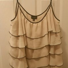 Beautiful Nine West dressy tank This top is great for the office and into the night!  Looks super cute with heels and a pair of jeans! Nine West Tops