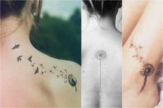 Uno de los diseños de tatuaje más populares entre las mujeres son los de diente de león. Esta planta tiene múltiples beneficios para la salud, pero no sólo eso, a muchas personas les recuerda la niñez: cuando tomaban un diente de león, soplaban y lo veían volar en pedacitos.A continuación vamos a revisar