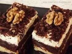 Murzynek to popularne szybkie ciasto, które z odrobiną piernikowych przypraw, gruszkami i orzechami nabiera nowego smaku. Przełożone krem...