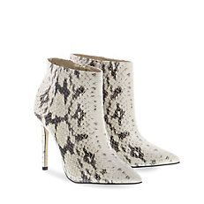 Buffalo Stiefelette in angesagtem Reptilprint!  #buffalo #booties #stiefelette #snake #print #leather #white #black