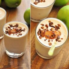 Baked apple smoothie 1/4 cup vanilla yogurt 1/4 cup cottage cheese 1 large apple, peeled, cored and sliced (I used granny smith) 1 tsp cinnamon 1 cup ice 1/3 cup water Large handful spinach (optional) Stevia or honey to taste