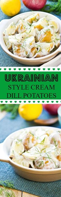 Ukrainian Style Creamed Dill Potatoes from The Kitchen Magpie - Cooking/vegetable, vegetarisch - Sunday Plans Ukrainian Recipes, Russian Recipes, Ukrainian Food, Slovak Recipes, Potato Side Dishes, Vegetable Side Dishes, Great Recipes, Dinner Recipes, Favorite Recipes