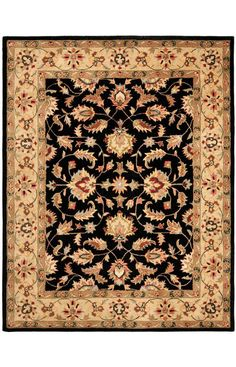 Safavieh Heritage HG957A Black Gold Rug | Traditional Rugs
